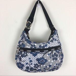 LeSportsac Nylon Floral Hobo Shoulder Bag